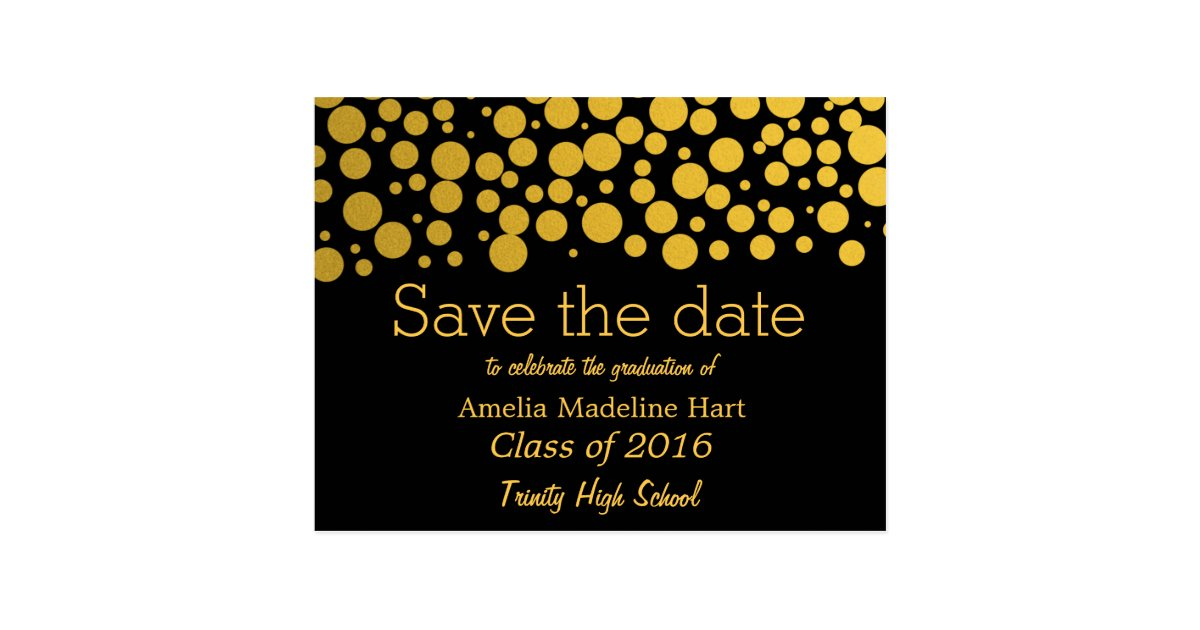 Gold foil save the date
