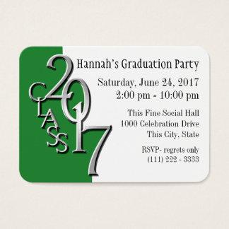 Graduation Party Green Photo Insert Card 2017