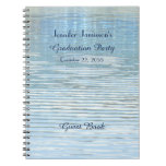 Graduation Party Guest Book Abstract Reflection Spiral Note Book