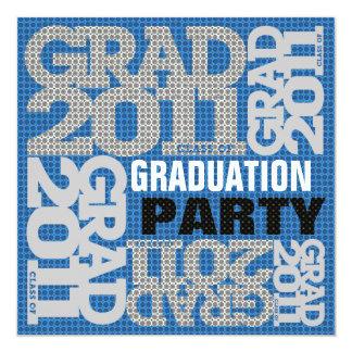 Graduation Party Invitation 2011 Blue 1