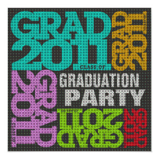 Graduation Party Invitation 2011 Multi Color