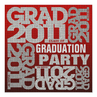 Graduation Party Invitation 2011 Red 1