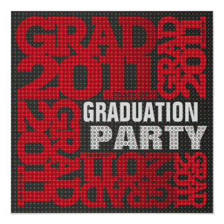 Graduation Party Invitation 2011 Red 2