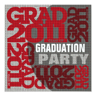 Graduation Party Invitation 2011 Red 3