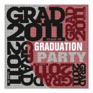 Graduation Party Invitation 2011 Red 4