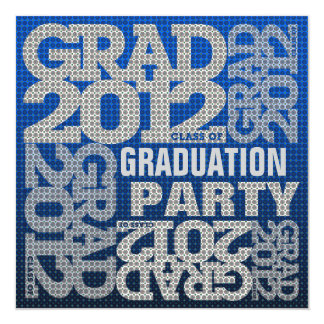 Graduation Party Invitation 2012 Blue 1