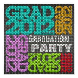 Graduation Party Invitation 2012 Multi Color