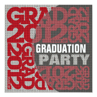 Graduation Party Invitation 2012 Red 4