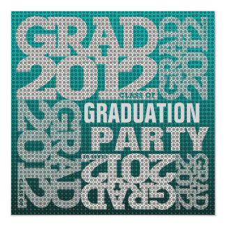 Graduation Party Invitation 2012 Teal 1