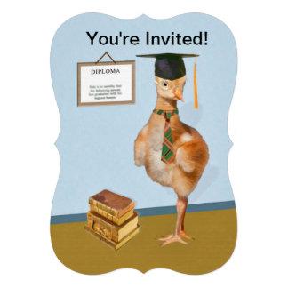 Graduation Party Invitation Cute Little Bird