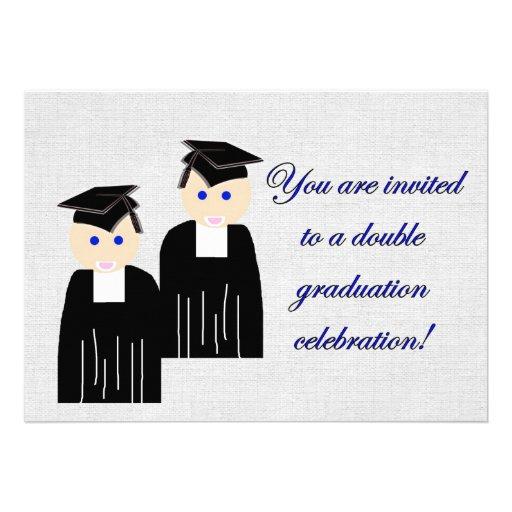 Personalized medical school graduation invitations graduation party invitation for twins filmwisefo