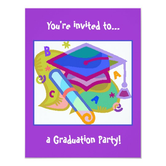 Graduation Party Invitation Grade Middle School