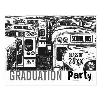 Graduation Party Invitation Gray Postcard