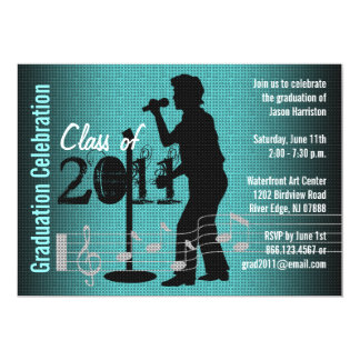 Graduation Party Invitation Music Men Choir
