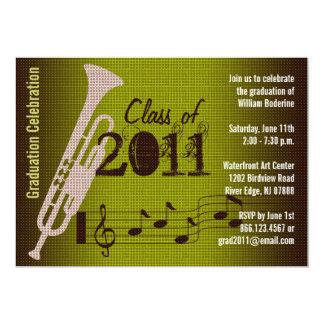 Graduation Party Invitation Music Trumpet