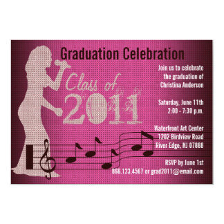 Graduation Party Invitation Music Women Choir