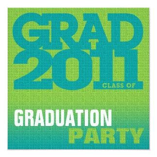 Graduation Party Invitation Pixelate Green