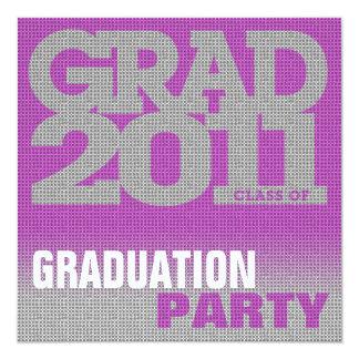 Graduation Party Invitation Pixelate Pink