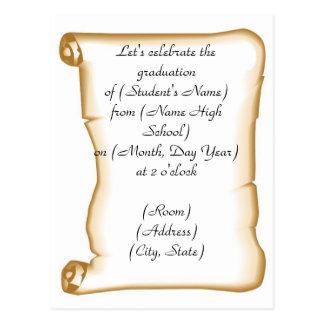 Graduation Party Invitation Postcard