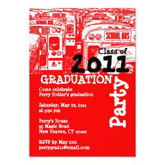 Graduation Party Invitation School Bus 3
