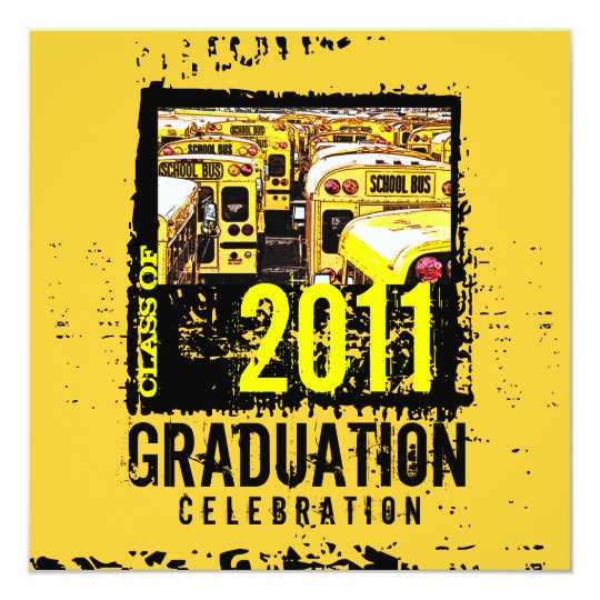 Graduation party invitation school bus 9 zazzle graduation party invitation school bus 9 filmwisefo
