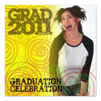 Graduation Party Invitation Twirl Photo Insert 2