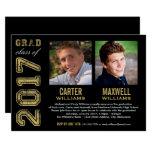Graduation Party Invitation   Two Graduates at Zazzle