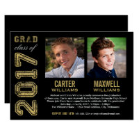 Graduation Party Invitation | Two Graduates