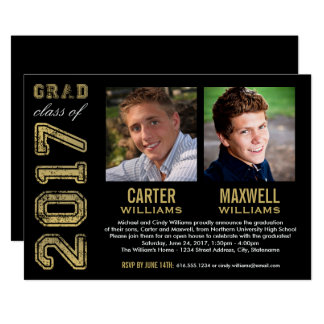 Twins Graduation Invitations Announcements Zazzle