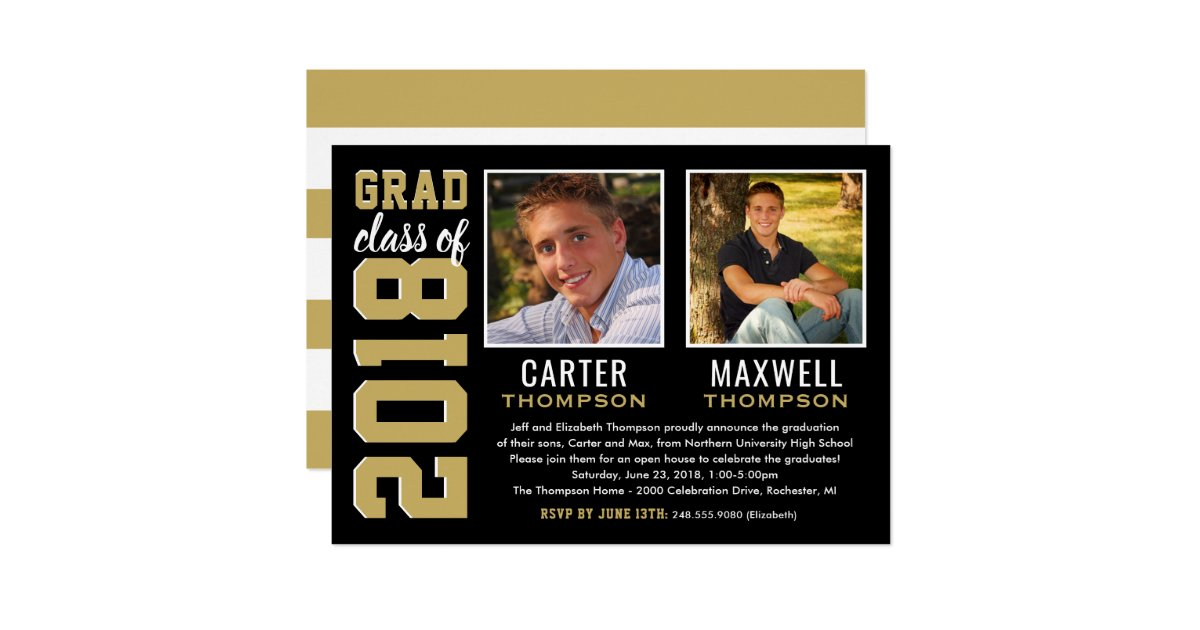 Graduation Party Invitations For Two Gallery - Invitation Templates ...