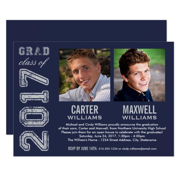 Graduation Party Invitation | Two Graduates
