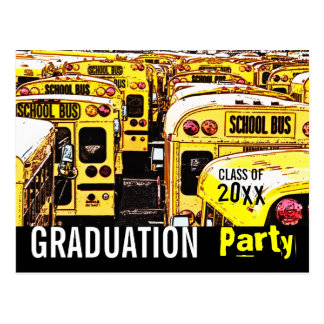 Graduation Party Invitation Yellow Postcard