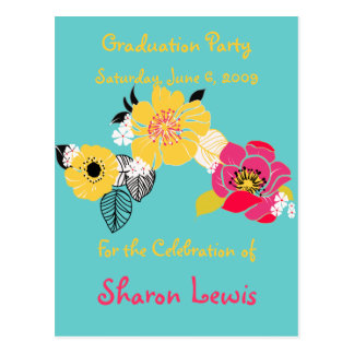 Graduation Party Invitations, postcard
