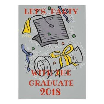 Graduation Party Invite by CREATIVEPARTYSTUFF at Zazzle