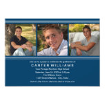 Graduation Party | Navy Classic Stripes 5x7 Paper Invitation Card