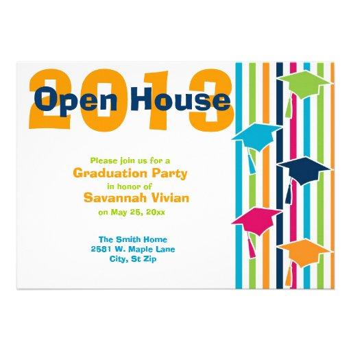 Graduation party open house invitations 5quot x 7quot invitation card zazzle for Graduation open house invitation
