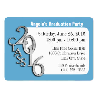 Graduation Party Photo Insert Card Large Business Card