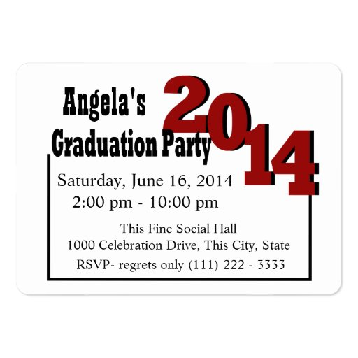 graduation party photo insert card red business cards zazzle. Black Bedroom Furniture Sets. Home Design Ideas