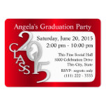 Graduation Party Photo Insert Card Red Large Business Cards (Pack Of 100)