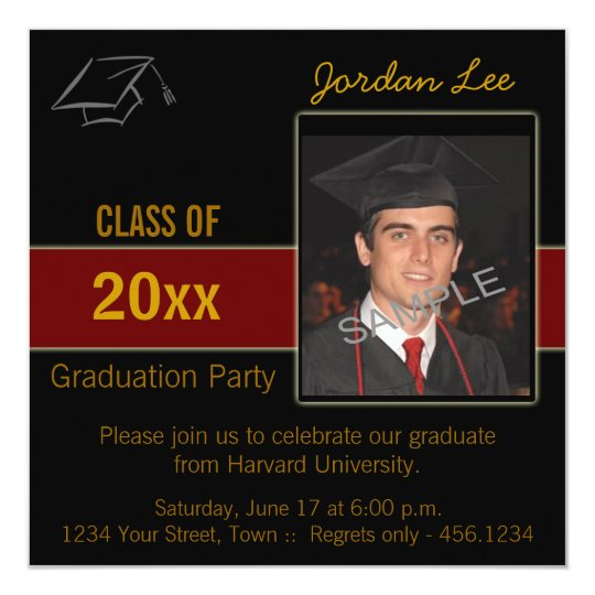 Graduation Party Photo Invitation