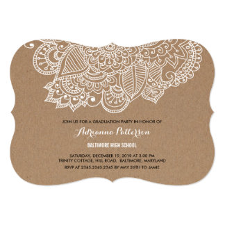 Graduation Party | Rustic Paisley Pattern Card