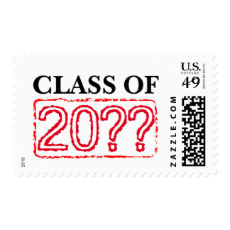 Graduation party stamps   Class of custom year