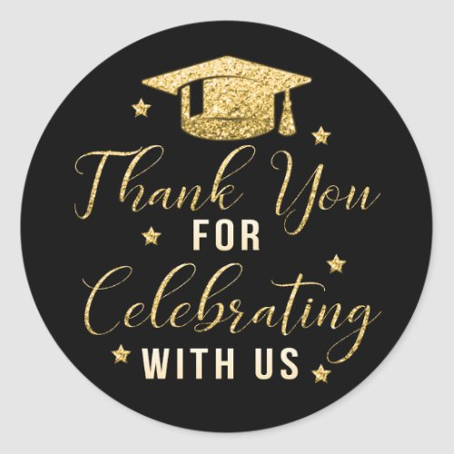 Graduation Party Thank You Favor Stickers
