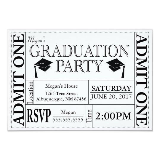 Graduation party ticket invitation zazzle graduation party ticket invitation filmwisefo