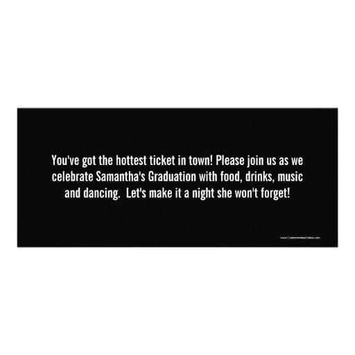 Graduation party ticket invitations black white filmwisefo