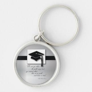 Graduation Path, Round Gift Items Keychain