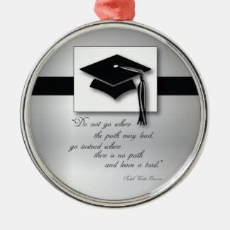 Graduation Path, Round Gift Items Metal Ornament