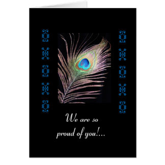 Graduation-Peacock feather Card
