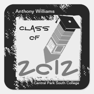 Graduation Pencil Sticker Black