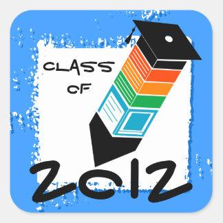 Graduation Pencil Sticker Blue
